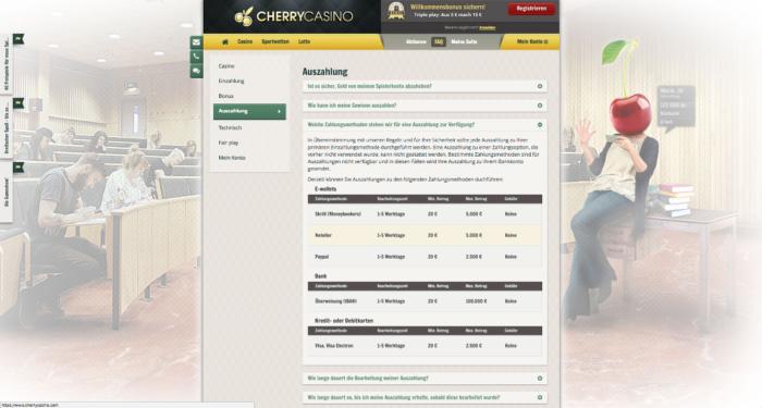 Cherry Casino Auszahlungen