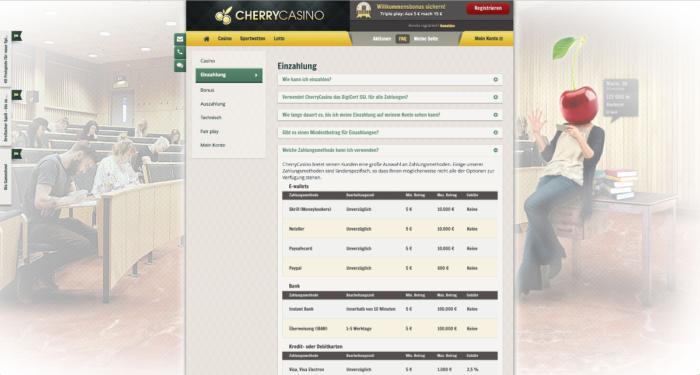 Cherry Casino Einzahlungen