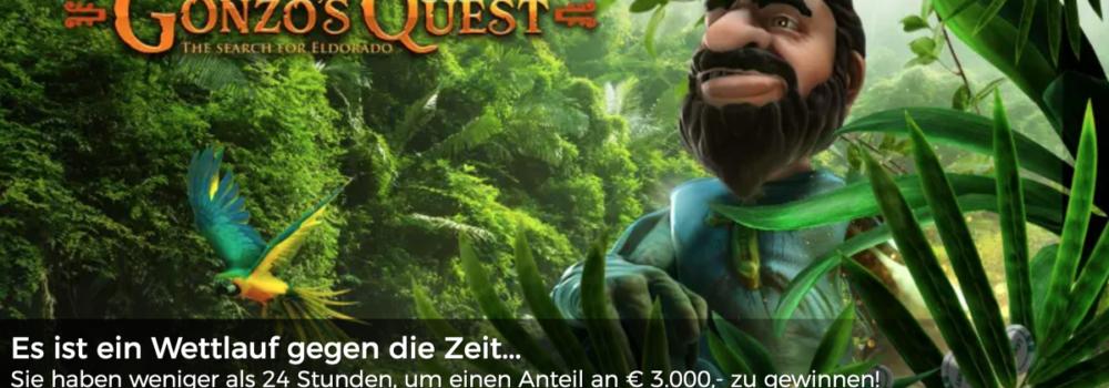 Nehmt heute im Mr Green Casino an der Gonzo's Quest Bargeld-Schatzsuche teil